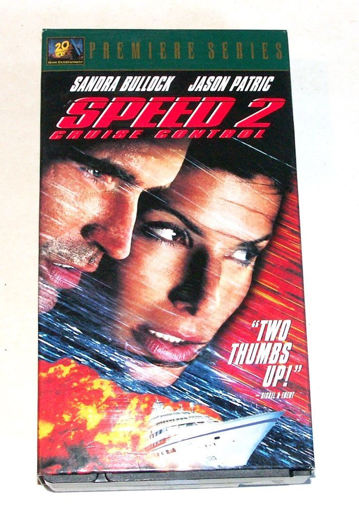 Speed 2: Cruise Control (VHS, 1997) Sandra Bullock and Jason Patric