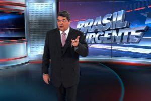 """Rep�rter chama """"Brasil Urgente"""" de """"Balan�o Geral"""" e leva pux�o de orelha"""