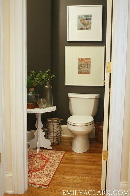 Urbane Bronze sherwin williams bathroom | wall color: Urbane Bronze (Sherwin Williams) | Bathroom Ideas