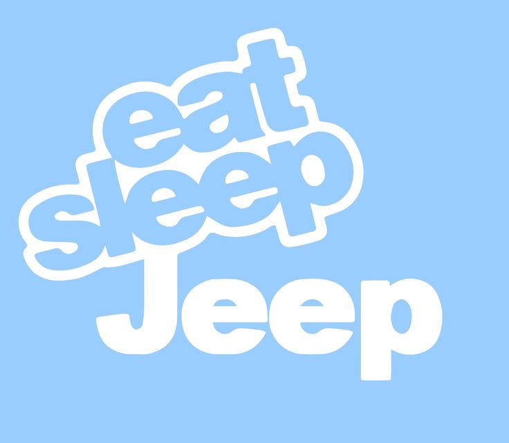 Eat sleep jeep 6 white vinyl decal