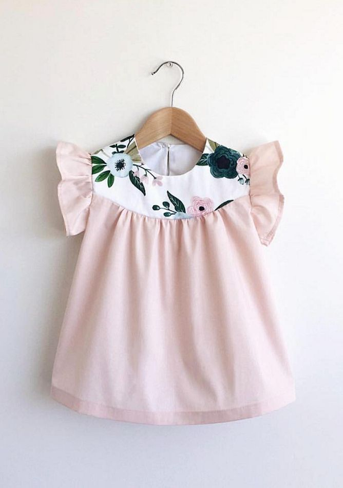 Handmade Dress With Floral Detail | SwallowsReturn on Etsy