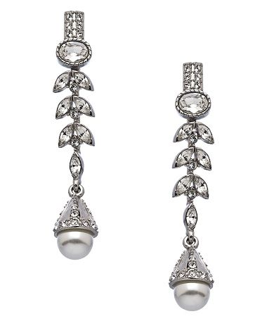 Taara White Gold Crystal and Seed Pearl Angelina Earrings #maxandchloe