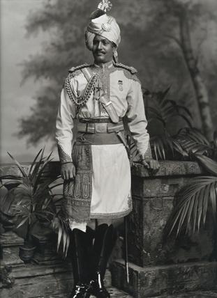 Thakur Hari Singh, Maharaja of Jodhpur, visit to Britain for Queen Victoria's Diamond Jubilee, photo Lafayette Portrait Studios. London, England, 1897. #Maharaja