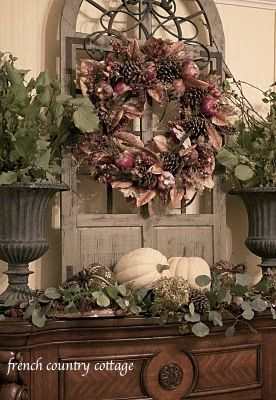 FRENCH COUNTRY COTTAGE: Autumn Fireplace Mantel ~ Inspirations