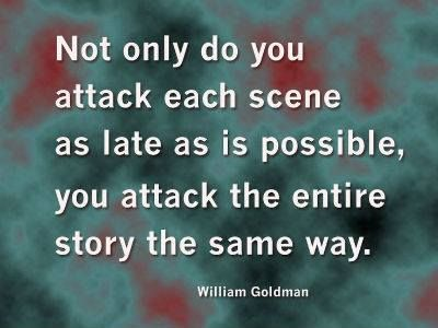 William goldman screenwriting advice