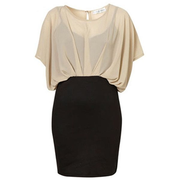Plus Size Beige Chiffon Black Ladies Bodycon Dress (1.590 RUB) ❤ liked on Polyvore featuring dresses, vestidos, robe, short dresses, beige, plus size short dresses, beige cocktail dress, chiffon dress and plus size body con dresses