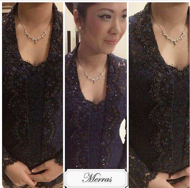 royal blue for engagement #merras #merraskebaya #wedding #lace