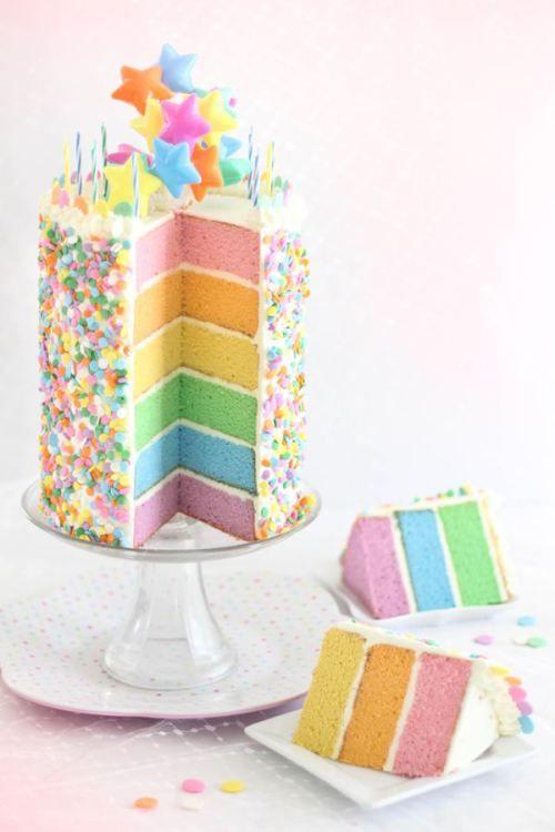 Piccoli Elfi | Rainbow Cake www.piccolielfi.it