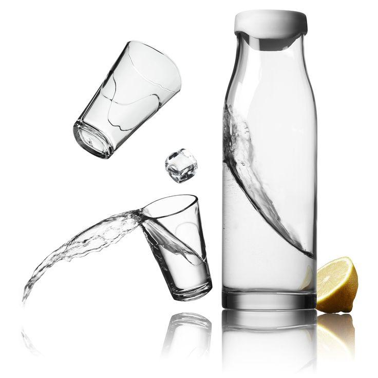 Zestaw karafka + 2 szklanki 300 ml (white) - od MENU, design by JAKOB WAGNER. Projekt ten jest laureatem nagrody w dziedzinie designu! Doskonała propozycja na upominek z klasą! #kitchen #accessories #forhome #dladomu #design #kuchnia #decosalon #water #woda www.decosalon.pl