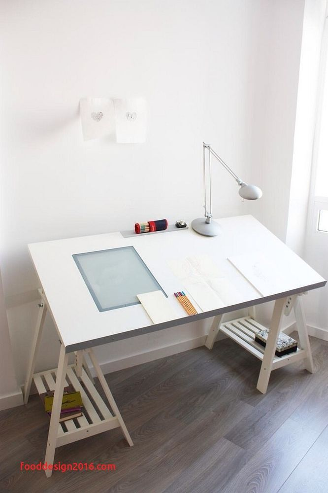 Art Table With Storage Best Of Ikea White Drafting Table With Light Box And Adjustable Trestle Arbeitszimmerideen Dekor Zeichentisch