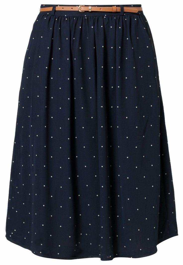 mint&berry - Falda plisada - azul  Relleno: 100% poliéster La persona de la foto mide: 181 cm La persona lleva una talla: EU 36 Estampado: de lunares Detalles: enaguas, bolsillos verticales, cinturón incluido, cremallera Material exterior: 100% poliéster