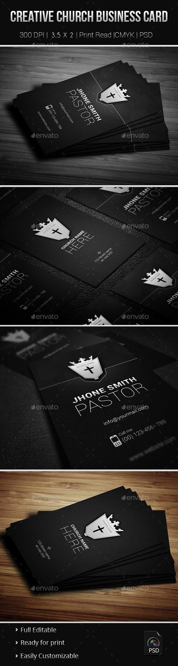 16 best business cards images on pinterest advertising business creative church business card magicingreecefo Gallery