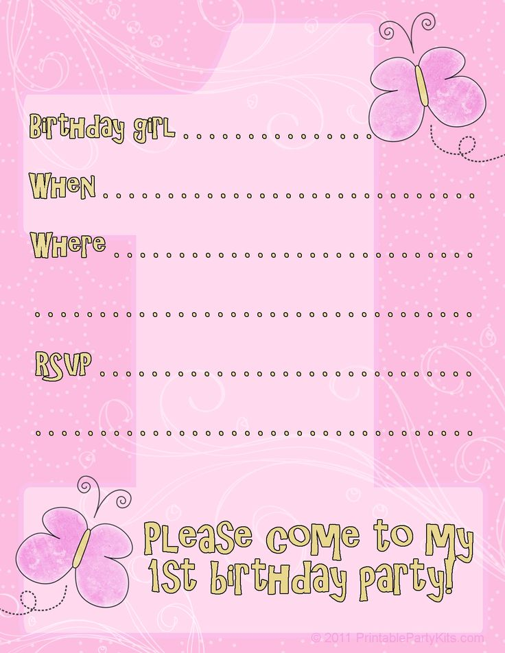 199 best Invitations images on Pinterest Printables, Birthday - free birthday party invitation templates for word