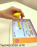 DIY stylus- great for learners at different stages of motor development!