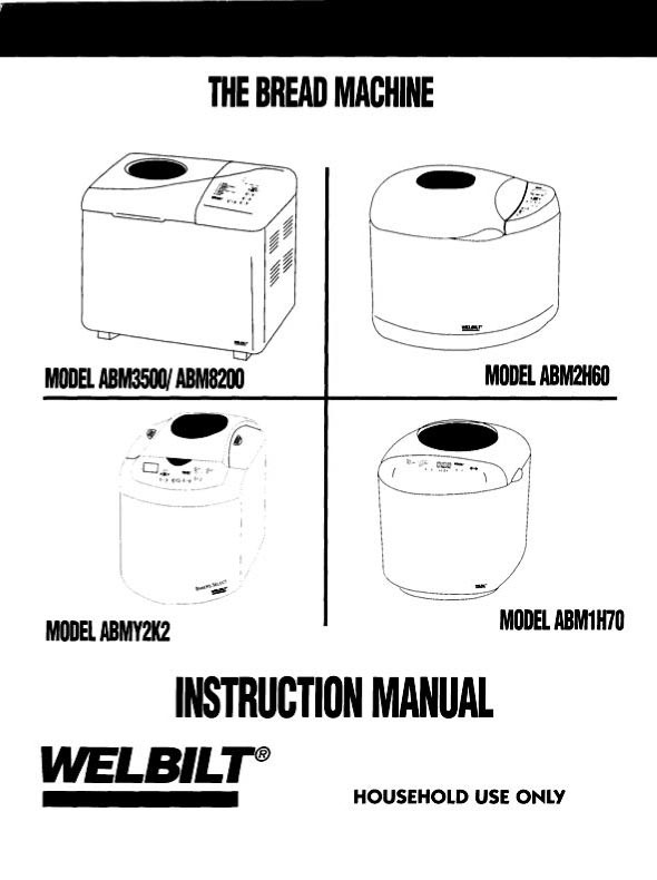 Welbilt Bread Machine Manuals: Adding another manual