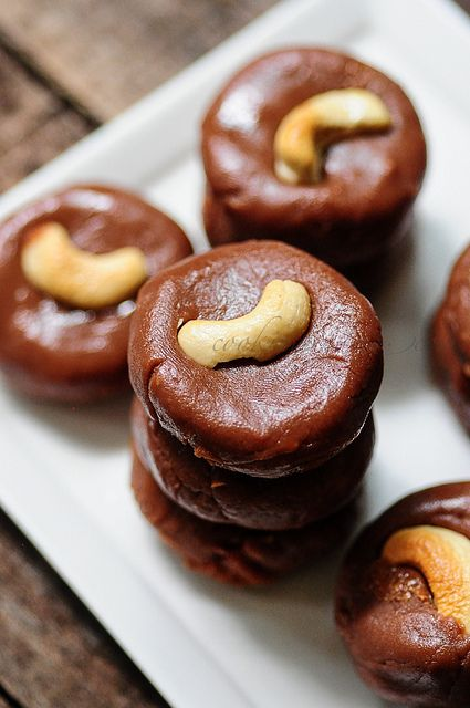 Milk Chocolate Peda-Chocolate Burfi-Diwali Sweets by Nags The Cook, via Flickr