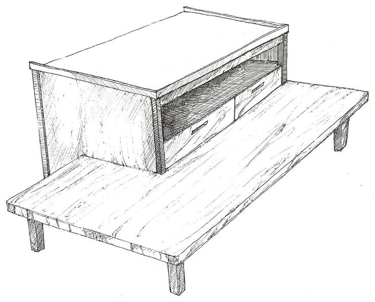 work table sketch