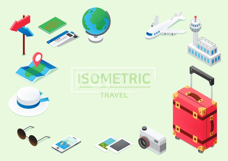 ILL193, 프리진, 일러스트, 아이소메트릭, 그래픽, 입체, 오브젝트, 웹활용소스, 면, 다양한, 일러스트, 육면체, 3D, 도형, 컨셉, 테마, 주제, 레이아웃, 여행, 바캉스, 세계, 지구, 전국, 나라, 해외, 패키지, 배낭여행, 관광, 휴가, 여가, 시즌, 여행가방, 캐리어, 비행기, 운송수단, 교통, 공항, 건물, 수속, 모자, 여권, 티켓, 표, 카메라, 사진기, 맵, MAP, 지도, 내비게이션, 휴대폰, 바탕화면, 사진, 폴라로이드, 표지판, 안내판, 화살표, 선글라스, 안경, 지구본, 빨간, 빨강, 분홍, 흰색, 회색, 파란, 푸른, 파랑, 녹색, 초록, 노랑, 검정, 단면, 프레임, #유토이미지