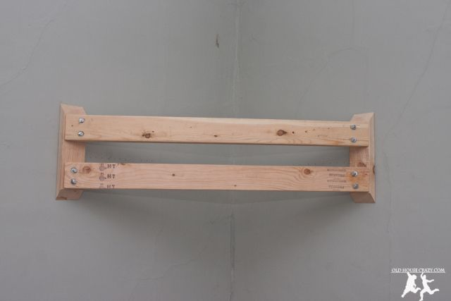 Old House Crazy - DIY - Corner Mount Your Flat Panel TV Without 300 Bucks - 05
