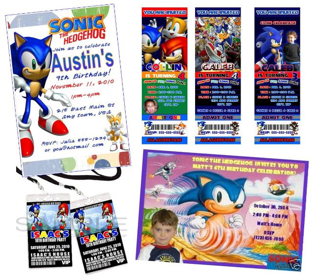 The 103 best sonic hedgehog images on pinterest sonic party sonic sonic the hedgehog birthday party invitations and game ideas filmwisefo