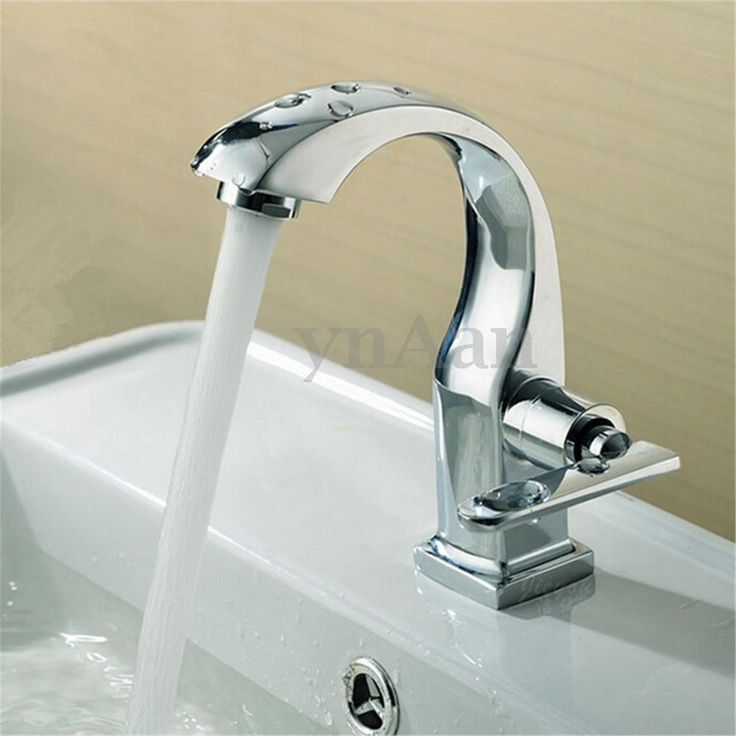New Chrome Finish Single Lever Bathroom Basin Faucet Spout Sink Cold Water Tap...