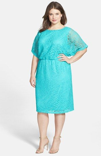 Maggy London 'Kimono' Lace Dress (Plus Size) available at #Nordstrom