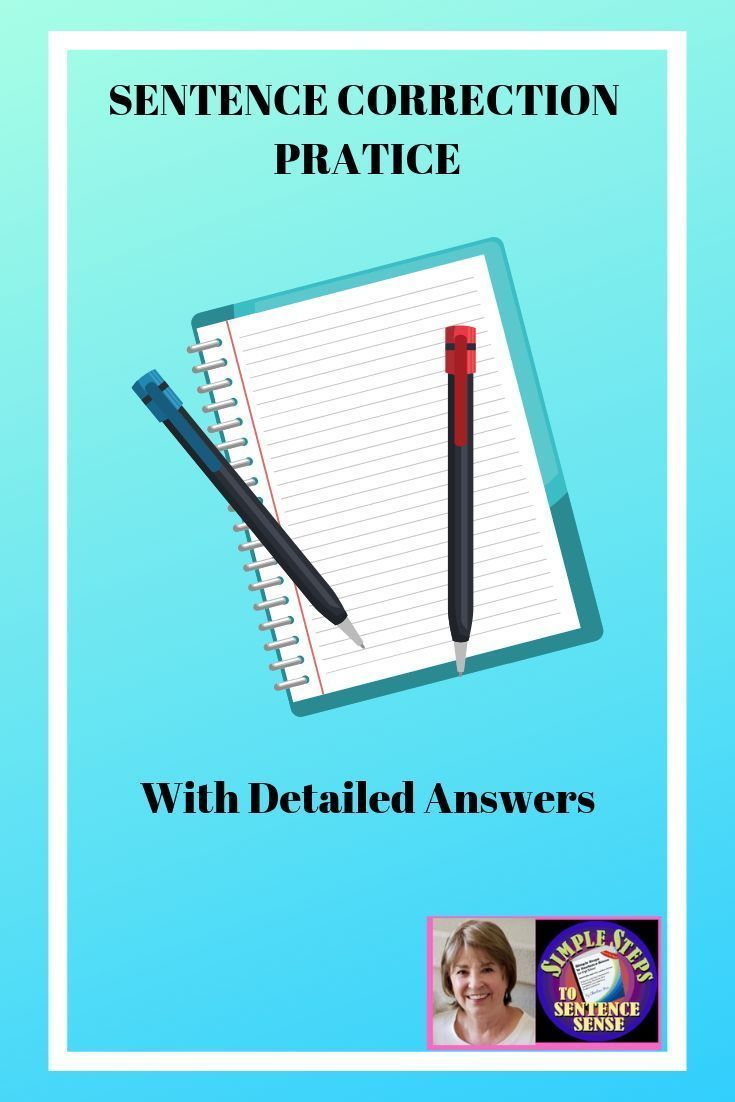Sentence Correction Practice With Detailed Answers Worksheets Sentence Correction Learning To Write Writing Skills [ 1102 x 735 Pixel ]