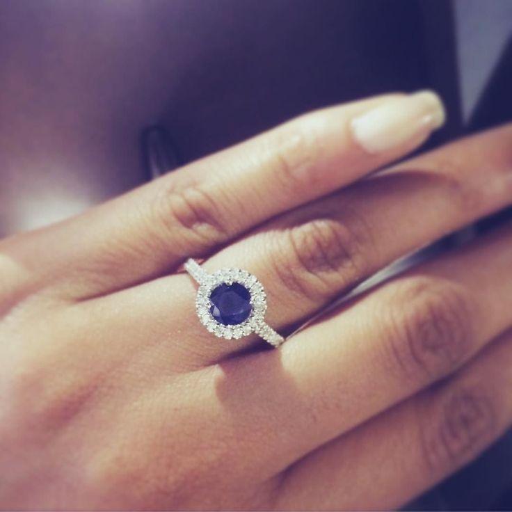 Giving Monday blues a new meaninG  #mondayblues #somethingblue #engagementring #sapphire #different #unique #diamondring #diamonds #engaged #theknotrings #apbling #howheasked #2016bride #etsybride #bridetobe #proposal #proposalideas #ringshopping #ringoftheday #jotd #jewelrygram #jewelrydesign #custom #boyfriend #dreamring #hinthint #mondaze #goals #relationshipgoals #ringbling
