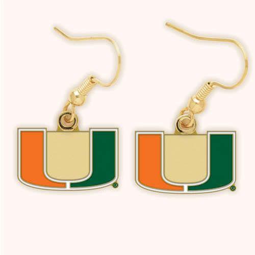 Miami University Dangle Earrings - Sunset Key Chains