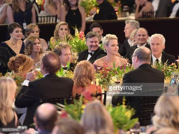 Jerry Bruckheimer Her Serene Highness Princess Charlene of Monaco and James Cameron attend 2017 Princess Grace Awards Gala at The Beverly Hilton...