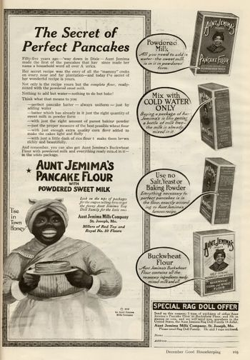 """WOW! and where would all us """"mammy"""" cooks be with out good ole Aunt Jemima"""