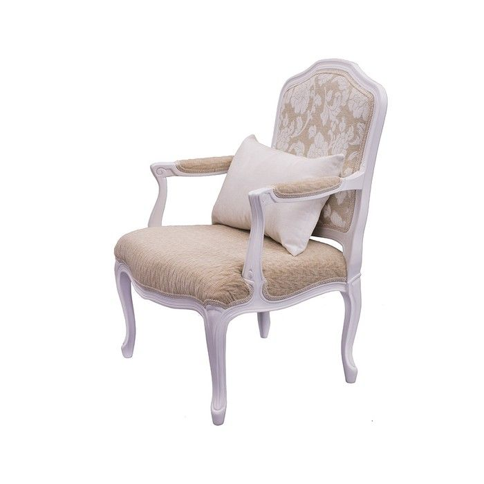 Кресло с деревянными подлокотниками из бука