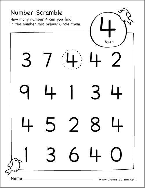free number scramble activities for preschool kids numbers preschool kindergarten teachers. Black Bedroom Furniture Sets. Home Design Ideas