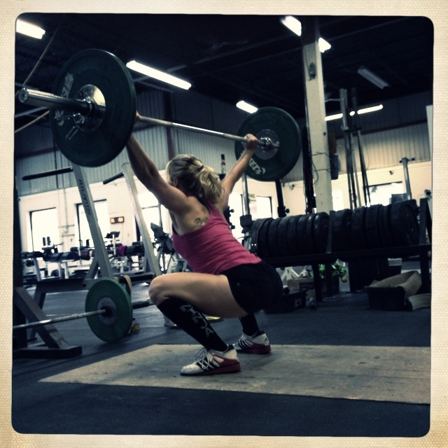 Sara practicing Snatch