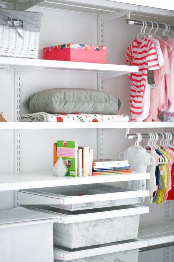 Container Store Nursery Closet Nursery Organization