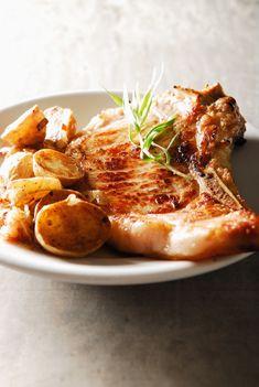Recette de côte de veau à l'estragon, pommes de terre sautées