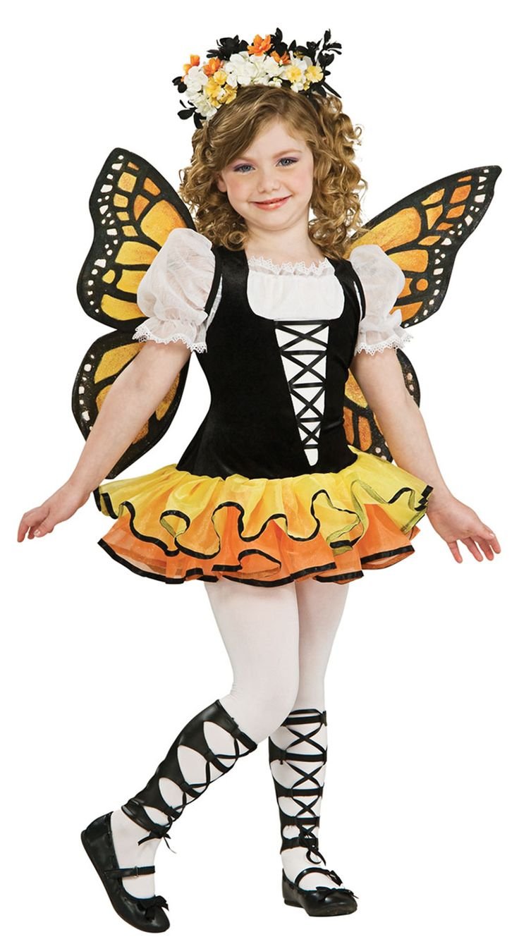 our girls monarch butterfly costume will be a hit at any halloween party or trick or treating adventure everyone will rave about this butterfly costume