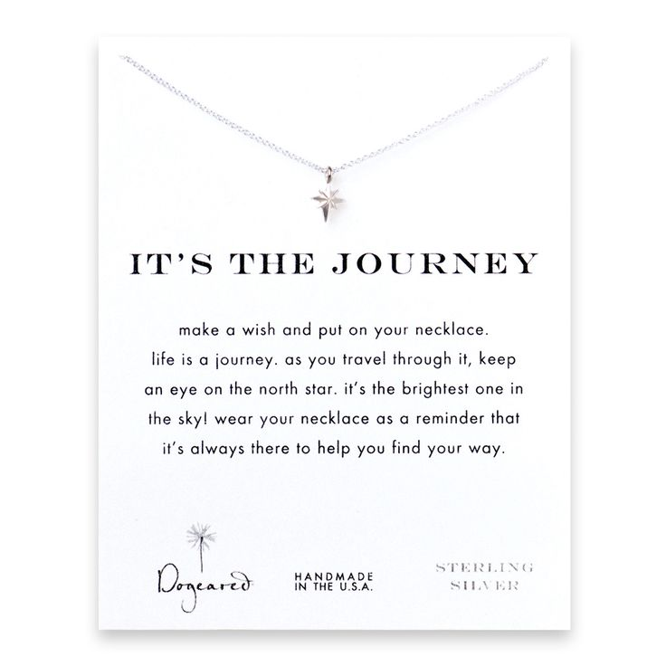 it's the journey north star necklace, sterling silver - Dogeared
