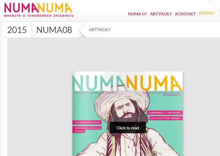 Numa Numa to magazyn o fenomenach Internetu i bezpieczeństwie online.