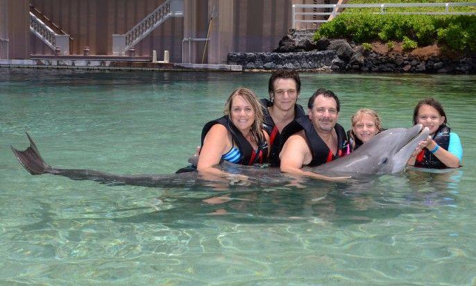 Dolphin Encounters - Family Dolphin Hug