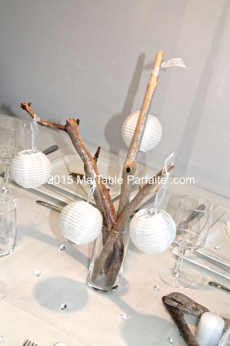 17 best images about deco de table noel or blanc on - Deco centre de table ...