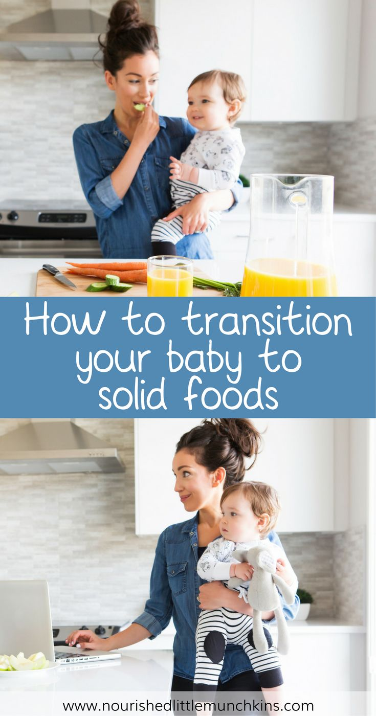 Are you confused how to start your baby on solid foods? This guide includes a sample schedule, meal plan, recipes, puree and baby led weaning BLW options. Click here for the FREE download how to transition you baby onto solid foods. #nourishedlittlemunchkins #baby #babyfood #purees #babyledweaning