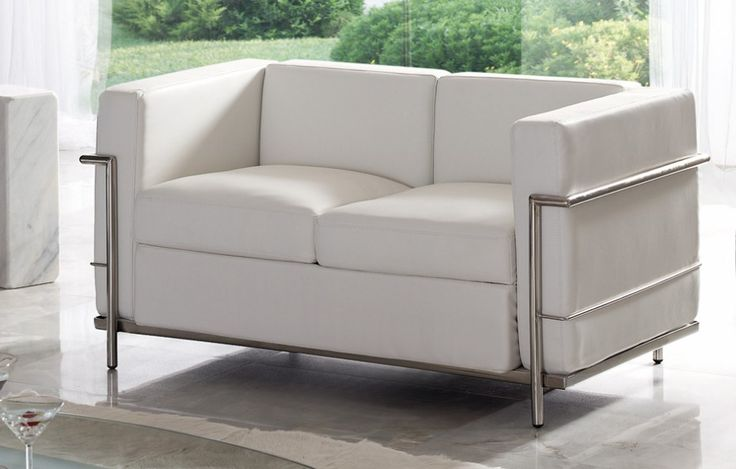 Sofa. Blanco / Negro