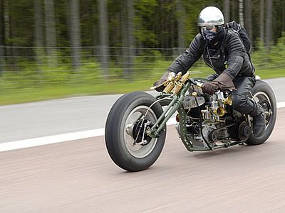 Bobber Motorcycle Riding On the road