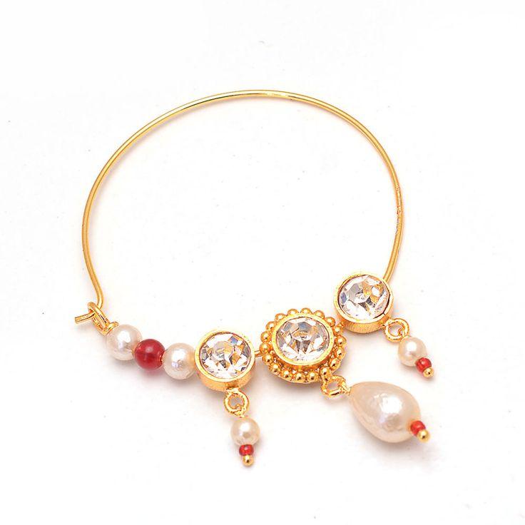 Daily Deal Designer Traditional Rajputi Nath Nose Ring Fancy Designer Jewelry #Handmade #DropDangle