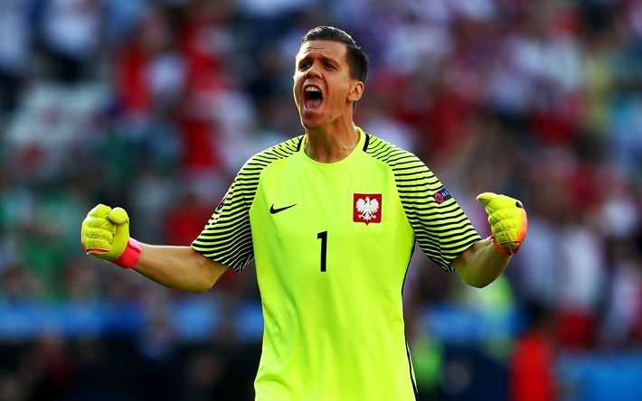 Télécharger fonds d'écran Wojciech Szczesny, le gardien de but, les joueurs de football, Équipe Nationale polonaise, le soccer