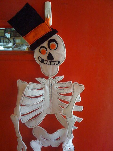 Felt Skeleton Holiday Crafts Christmas Ornaments