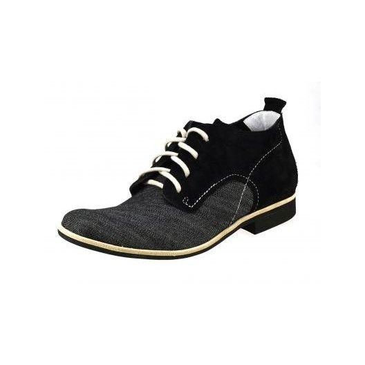 Pánske kožené topánky čierne PT023 - manozo.hu