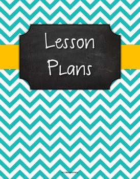 Lesson plan binder cover freebie turquoise chevron chalk for Ohio department of education lesson plan template