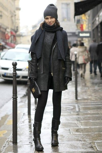 Snowy Street Style Snaps at Paris Couture Shows / Photo by Anthea Simms